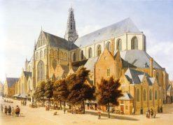 The Grote or St. Bavokerk in Haarlem | Gerrit Adriaensz.Berckheyde | Oil Painting