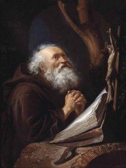 Saint Jerome in Prayer | Gerrit Dou | Oil Painting