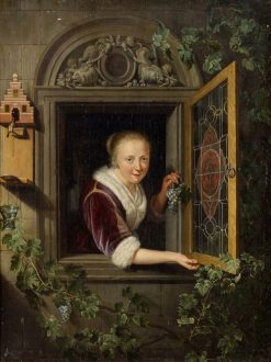 Lady at a Window | Gerrit Dou | Oil Painting