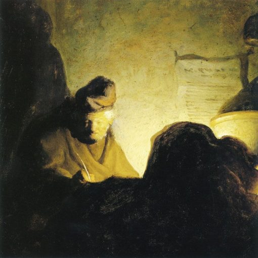 A Man Writing by Candlelight | Gerrit Dou | Oil Painting