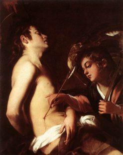 Saint Sebastian Healed by an Angel | Giovanni Baglione | Oil Painting