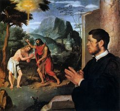 Baptism of Christ with a Donor | Giovanni Battista Moroni | Oil Painting
