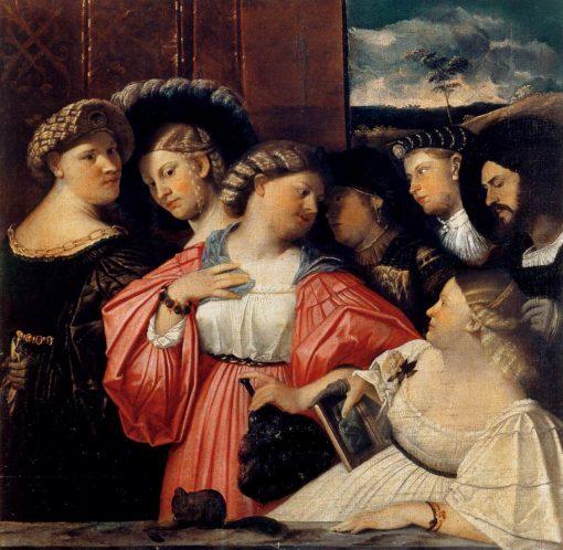 Sette Ritratti Albani (Seven Albani Portraits) | Giovanni Cariani | Oil Painting