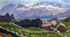Blick uber Capolago Auf Den Silsersee | Giovanni Giacometti | Oil Painting