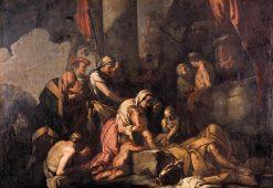 Liriope Bringing Narcissus before Tiresias | Giulio Carpioni | Oil Painting