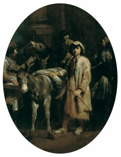 Peasants with Donkeys | Giuseppe Maria Crespi | Oil Painting