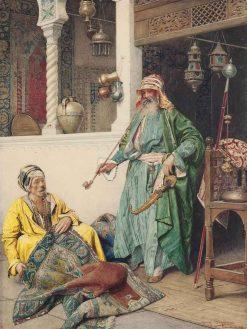 A Rest in the Bazaar | Giuseppe Signorini | Oil Painting