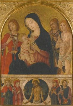 Madonna and Child with Saints | Guidoccio Cozzarelli | Oil Painting