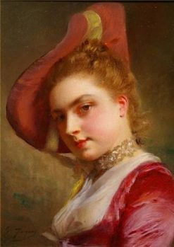 An Admiring Expression | Gustave Jean Jacquet | Oil Painting