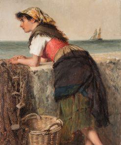 Fisherwoman at Wall | Haynes King | Oil Painting
