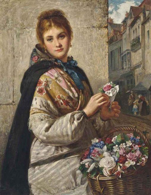 The Flower Seller   Haynes King   Oil Painting
