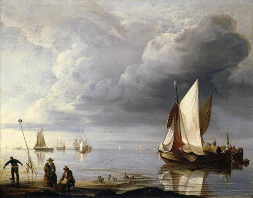 Small Dutch Vessels in a Calm | Hendrick Jacobsz. Dubbels | Oil Painting