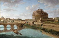 A View of the Tiber in Rome | Hendrik Frans van Lint | Oil Painting