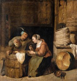 Interior Scene with Two Women Talking | Hendrik Martensz. Sorgh | Oil Painting