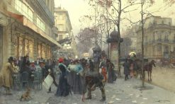 A Bustling Street Scene