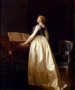 A Lady Playing the Virginal | Henri Nicolas van Gorp | Oil Painting