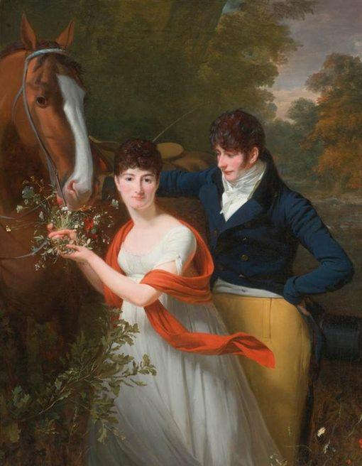 Portrait of Jean-Louis Gustave d'Hautefort and his Sister   Henri Pierre Danloux   Oil Painting