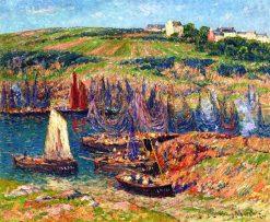 Sardine Fishermen at Doelan | Henry Moret | Oil Painting