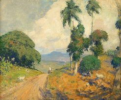 Mountain Road in Puerto Rico | Hermann Dudley Murphy | Oil Painting
