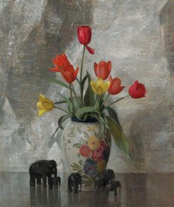 Elephants and Tulips | Hermann Dudley Murphy | Oil Painting