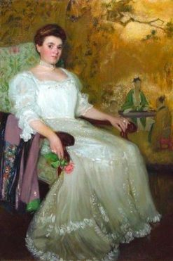 Portrait of a Boston Lady | Hermann Dudley Murphy | Oil Painting