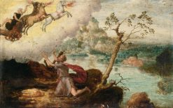 Elijah Ascending to Heaven in the Fiery Chariot | Herri met de Bles | Oil Painting