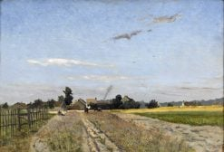 Fields at the Edge of the Village at Bois-le-Roi | Hippolyte Camille Delpy | Oil Painting