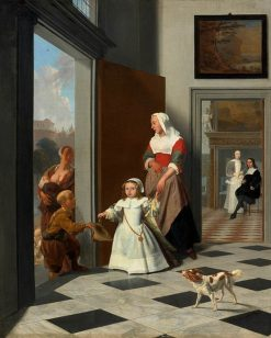 Child and Nurse in the Entrance of a Town House | Jacob Ochtervelt | Oil Painting