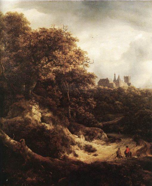The Castle of Bentheim   Jacob van Ruisdael   Oil Painting