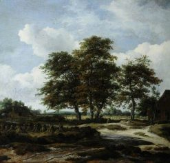Low Waterfall in a Hilly Landscape | Jacob van Ruisdael | Oil Painting