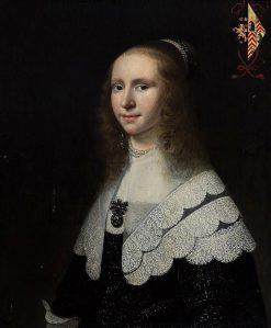 Portrait of Agatha Valensis van Beresteyn (1625-1702)   Jacob Willemsz. Delff II   Oil Painting