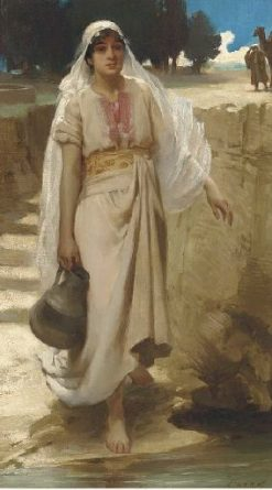 An Eastern Girl Fetching Water from a Stream | James Clark | Oil Painting