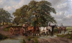 The Logging Cart | James Clark | Oil Painting