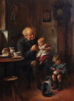 Breakfast with Grandpapa | James Clark | Oil Painting