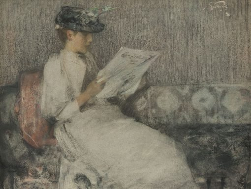 The Morning Paper | James Guthrie | Oil Painting