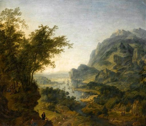 Rhenish Landscape   Jan Griffier   Oil Painting