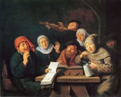 Merry Company at a Table | Jan Miense Molenaer | Oil Painting