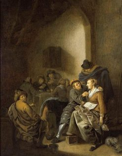 Amorous Couple in an Inn | Jan Miense Molenaer | Oil Painting