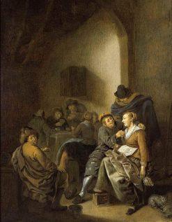Amorous Couple in an Inn | Jan Miense Molenaer | Oil Painting