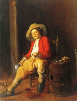 Boy Holding a Tankard and a Pipe | Jan Miense Molenaer | Oil Painting