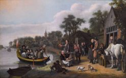 Gathering of Townsfolk | Jan Victors | Oil Painting