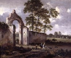 Landscape with a Ruined Arch | Jan Wijnants | Oil Painting