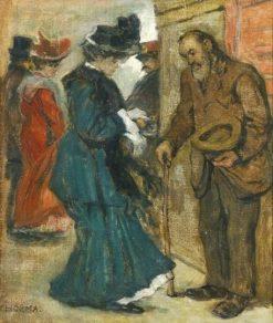 Alms   Janos Thorma   Oil Painting