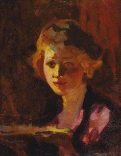 Female Portrait   Janos Thorma   Oil Painting