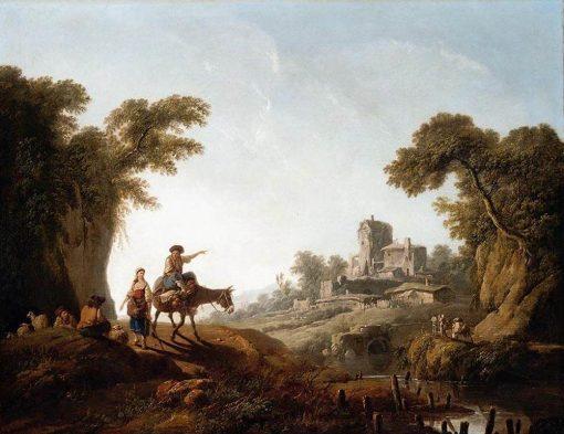 River Landscape | Jean Pillement | Oil Painting