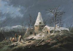 Winter   Jean Pillement   Oil Painting