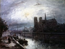 Notre-Dame by Moonlight | Johan Barthold Jongkind | Oil Painting