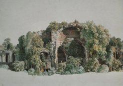 Ruins of the Villa Adriana at Tivoli | Johann Christian Reinhart | Oil Painting