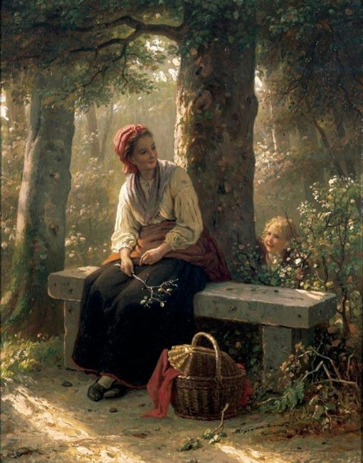 Hide and Seek | Johann Georg Meyer von Bremen | Oil Painting