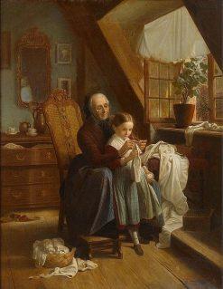 Sewing Lesson | Johann Georg Meyer von Bremen | Oil Painting